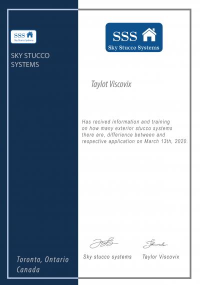 Sky stucco systems toronto stucco training and certificate