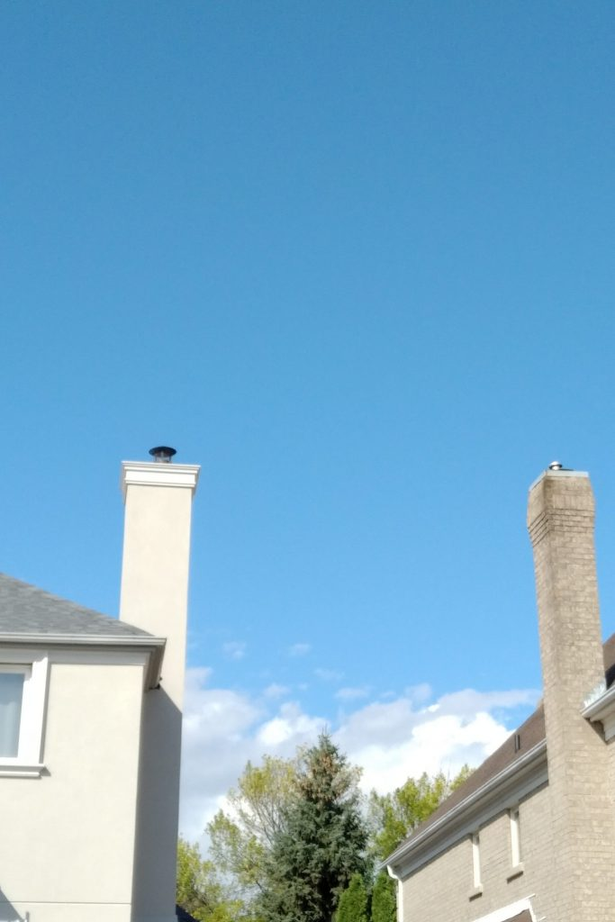Before and After Mississauga, On house  Chimney